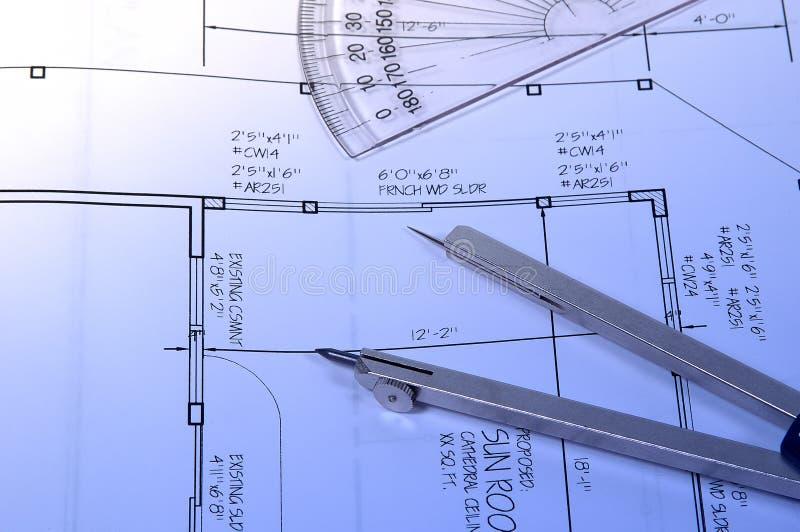 Download Pläne stockfoto. Bild von aufbau, kompaß, pläne, erneuerung - 46884