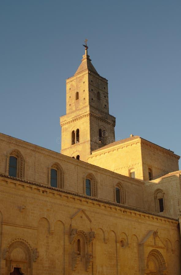 Pläne der unterschiedlichen Perspektive der Kathedrale des Madonna-della Bruna und des Sant-` Eustachio Matera, Italien lizenzfreie stockfotos