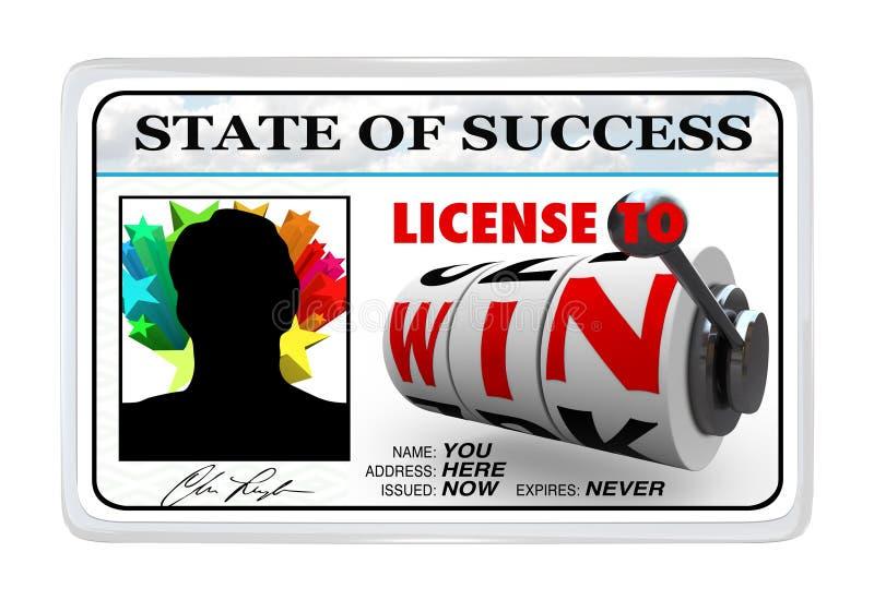 pläterad license för kort ID att segra stock illustrationer