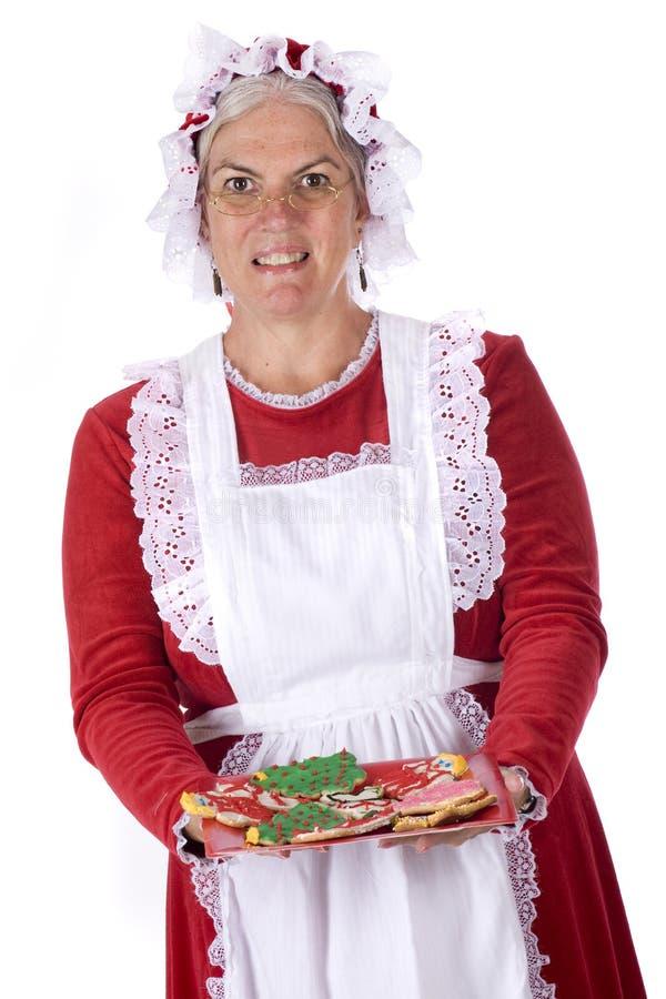 Plätzchen von der Mrs Sankt lizenzfreies stockfoto