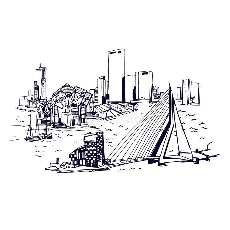 Plätze und Architektur auf der ganzen Welt lizenzfreie abbildung