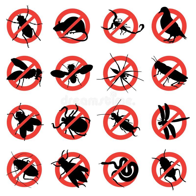 plågarodenten undertecknar varning royaltyfri illustrationer