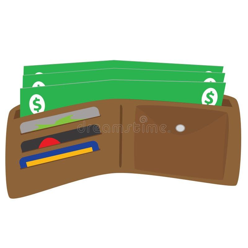 plånbok royaltyfri illustrationer