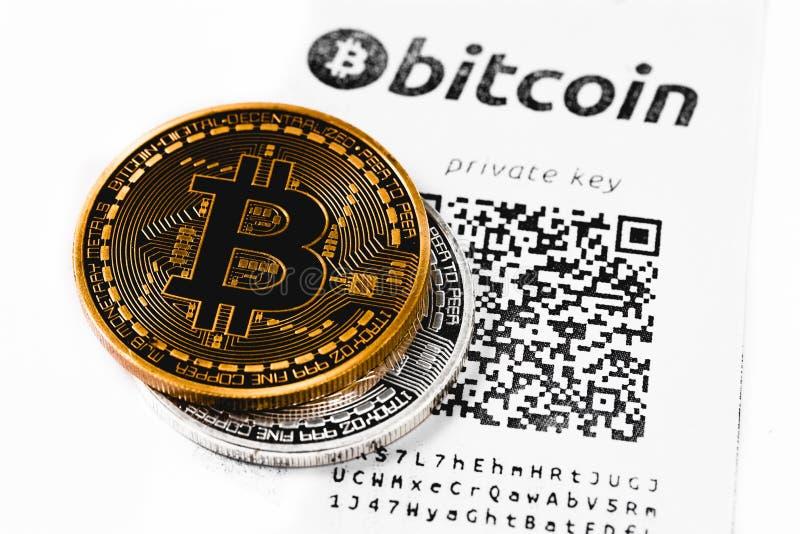 Plånbok för Bitcoin ` s royaltyfria foton