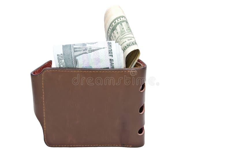 Plånbok med kassa royaltyfri bild