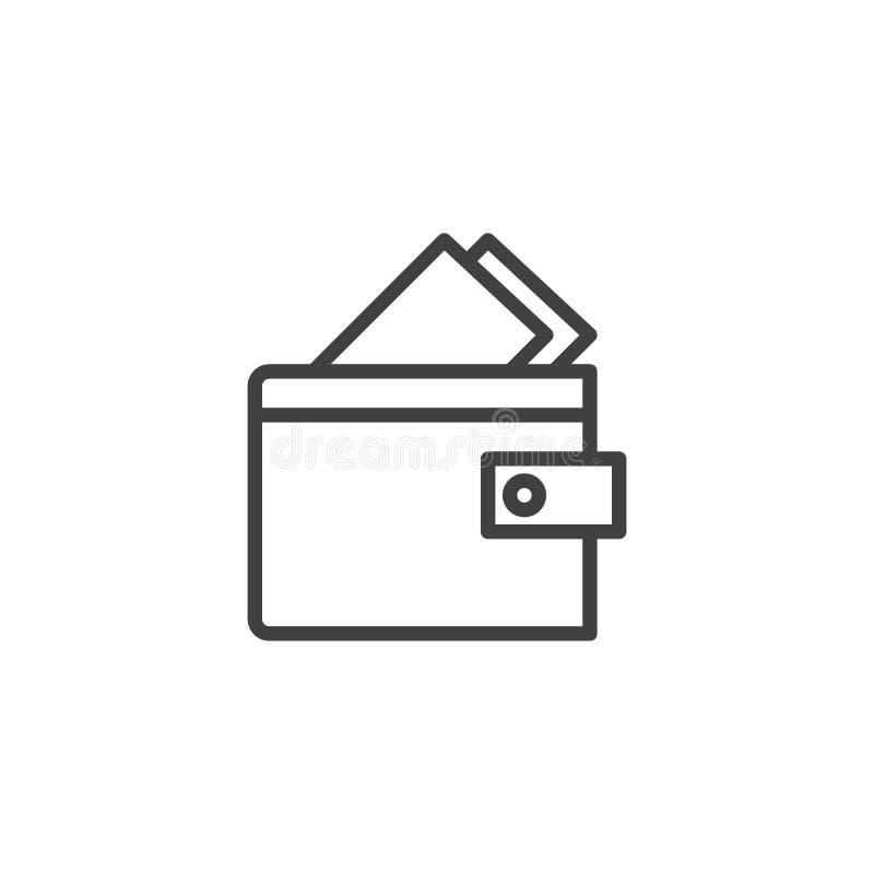Plånbok med kreditkortöversiktssymbolen royaltyfri illustrationer