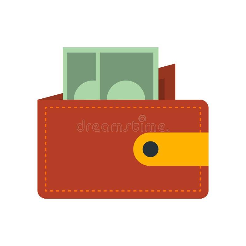 Plånboksymbolsvektor som isoleras på vit bakgrund, plånboktecken vektor illustrationer