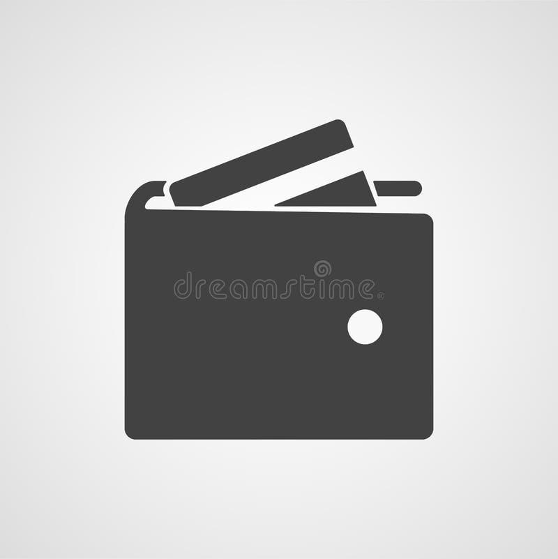 Plånbokvektorsymbol stock illustrationer
