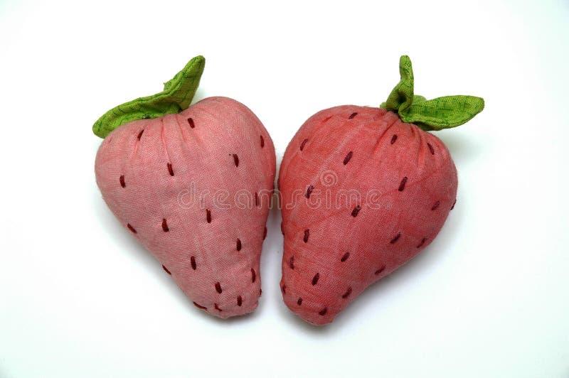 Plüscherdbeeren stockbilder