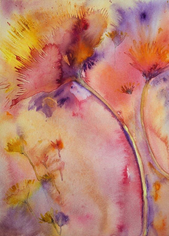 Plątać róże z wybuchać kolory ilustracja wektor