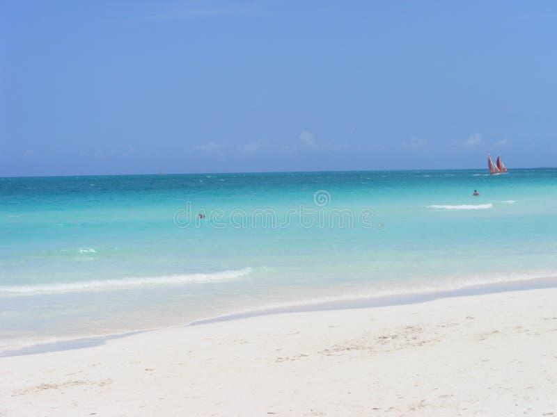 Plaża i ocean w Kuba w wiośnie kubański kurort obraz stock