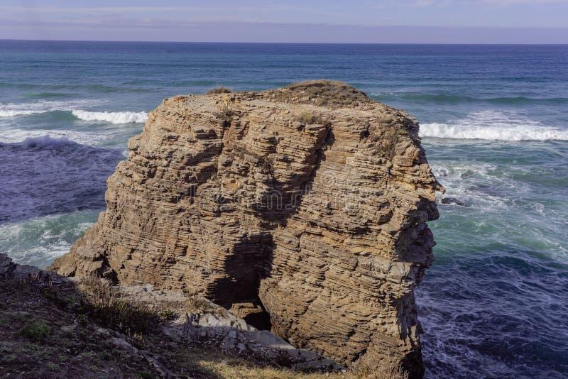 Plaża katedry Lugo Hiszpania europejczycy zdjęcie royalty free