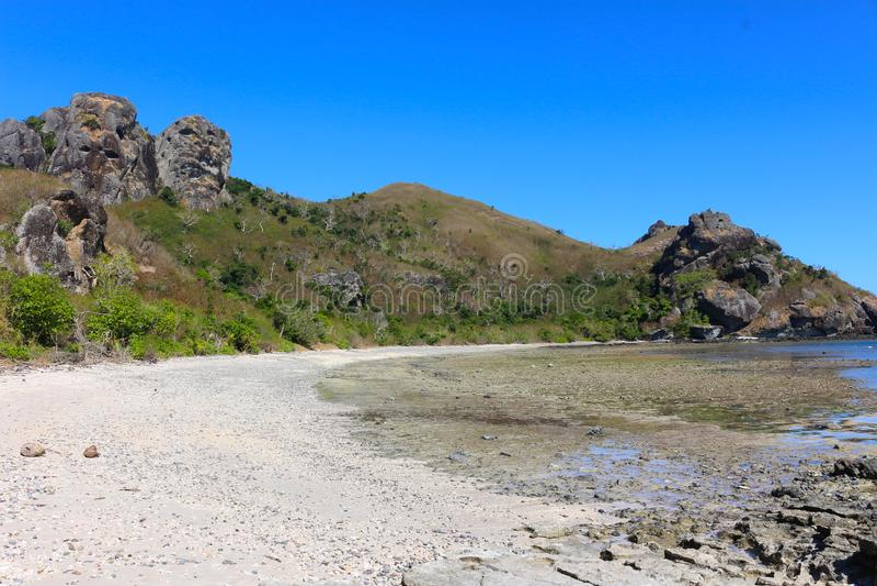 Plaża tropikalna wyspa, Fiji fotografia stock