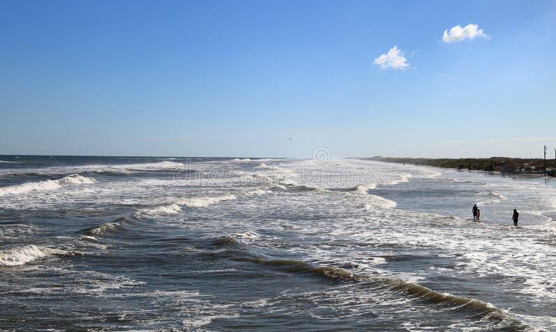 Plaża w Padre wyspie, Południowy Teksas zdjęcie stock