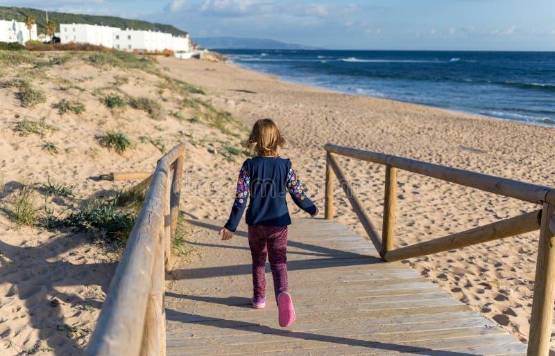plażowi młodych dziewcząt obrazy royalty free