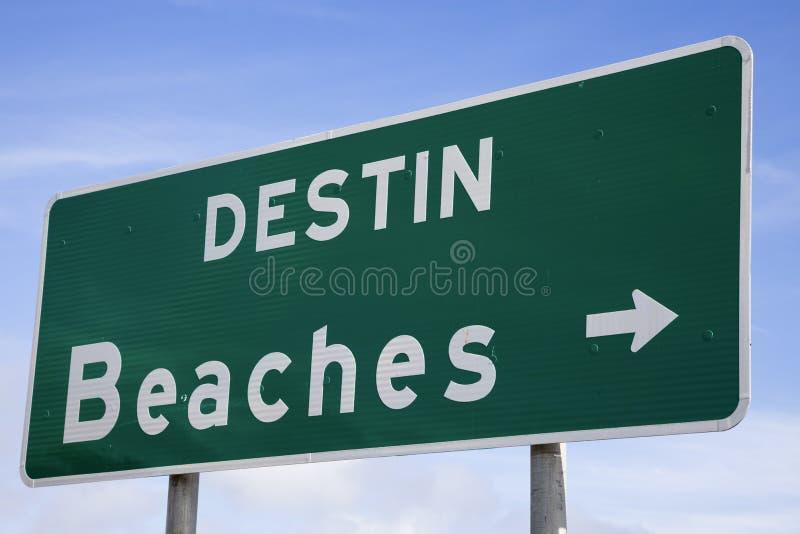 plaż destin znak zdjęcia stock