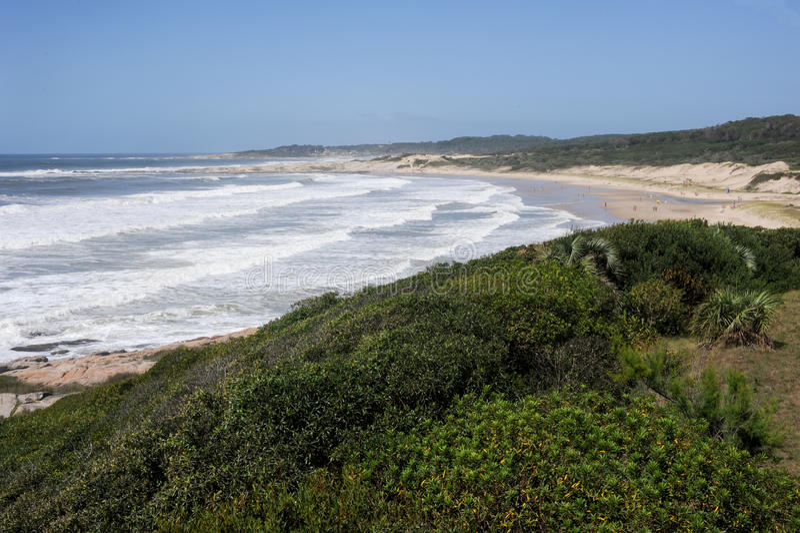 Plaża Achiras na Santa Teresa parku narodowym fotografia royalty free