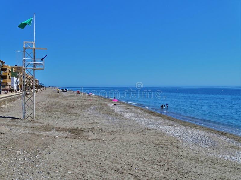Plaża Balerma od El Ejido Almeria Andalusia Hiszpania zdjęcie royalty free