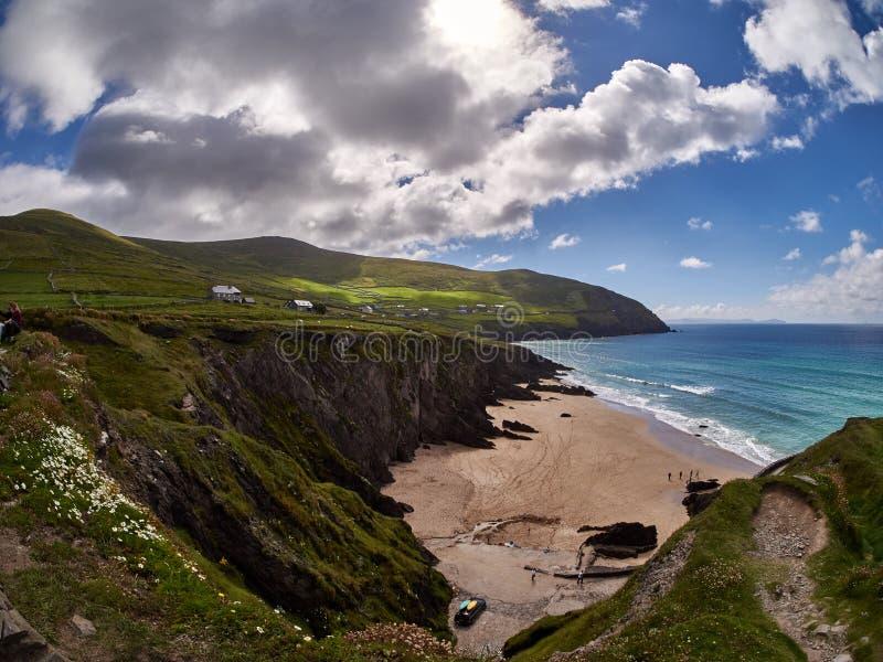 Plaża blisko Slea głowy w Dingle, Irlandia fotografia royalty free