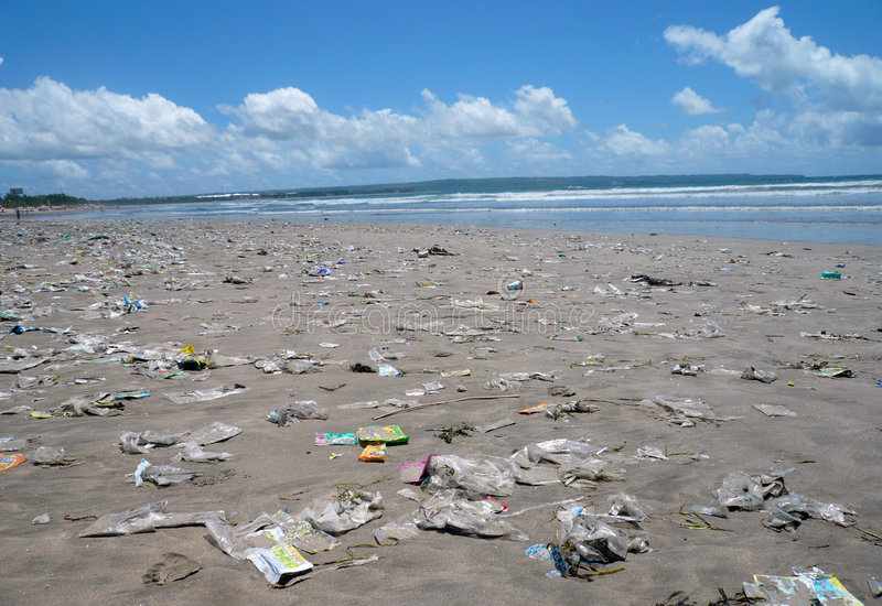 plaża brudna zdjęcia royalty free