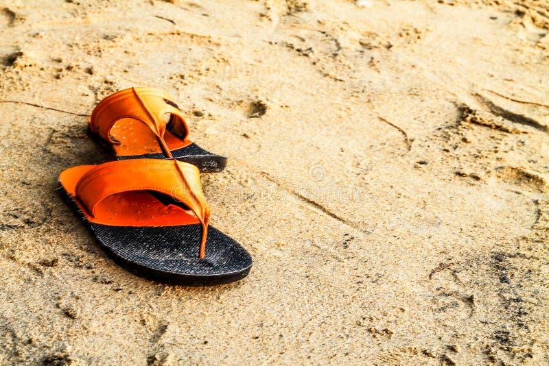 Plaża buty obraz royalty free