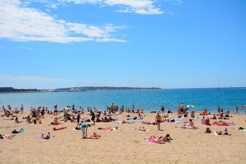 Plaża, Cannes, Francja obrazy stock