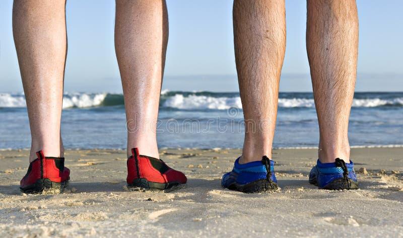 plaża cieli się cieki zdjęcia stock