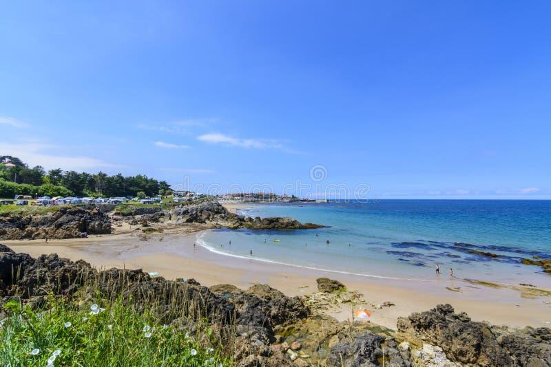 Plaża Comillas, Cantabria zdjęcia stock