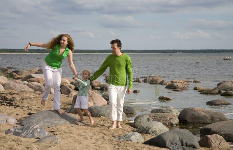 plaża fammily obrazy royalty free