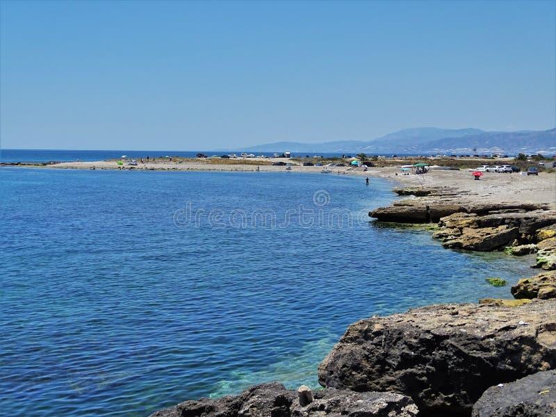 Plaża Guardias Viejas od El Ejido Almeria Andalusia Hiszpania obraz royalty free