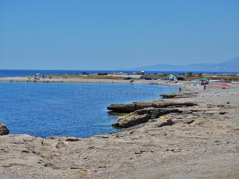 Plaża Guardias Viejas od El Ejido Almeria Andalusia Hiszpania fotografia royalty free