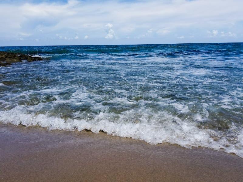 Plaża i niebo fotografia stock
