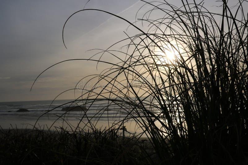 Plaża i zmierzchu niebo obrazy stock
