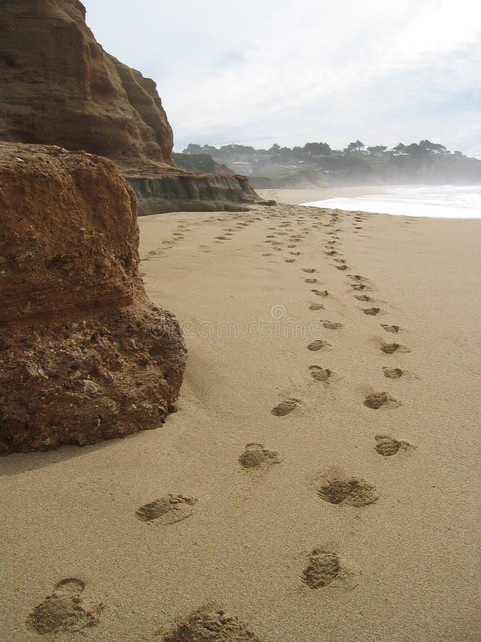 plaża kroków obraz royalty free