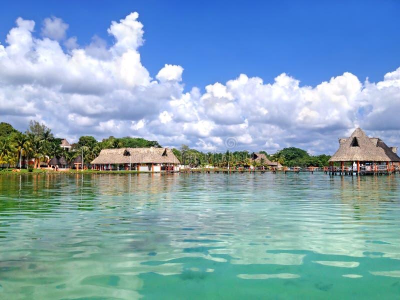 Plaża Laguna Bacalar, Meksyk zdjęcie royalty free