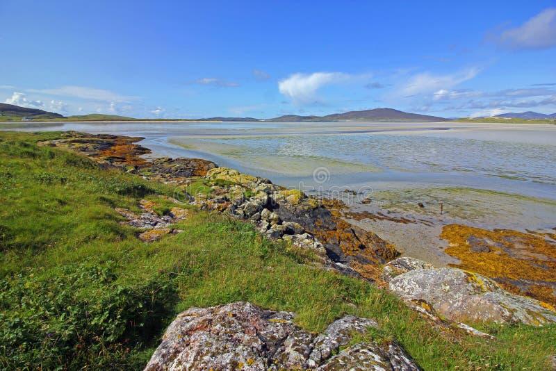 Plaża Luskentyre, wyspa Harris, Szkocja zdjęcie royalty free