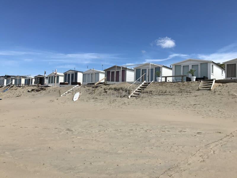 plaża mieści zandvoort obrazy royalty free