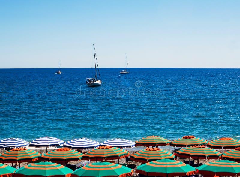 Plaża, morze i niebo, obraz royalty free