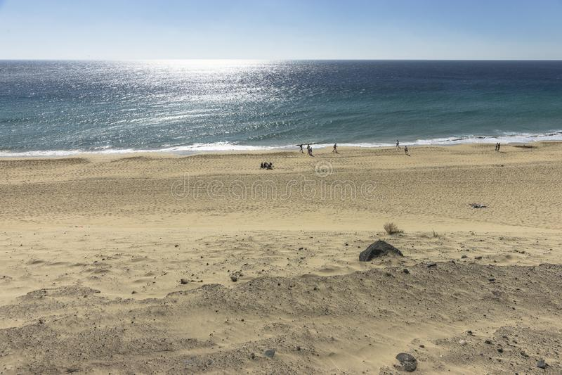 Plaża na Fuerteventurze fotografia royalty free