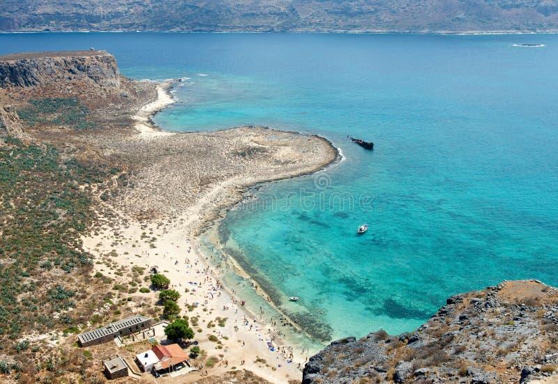 Plaża na wyspie Gramvousa zdjęcia stock