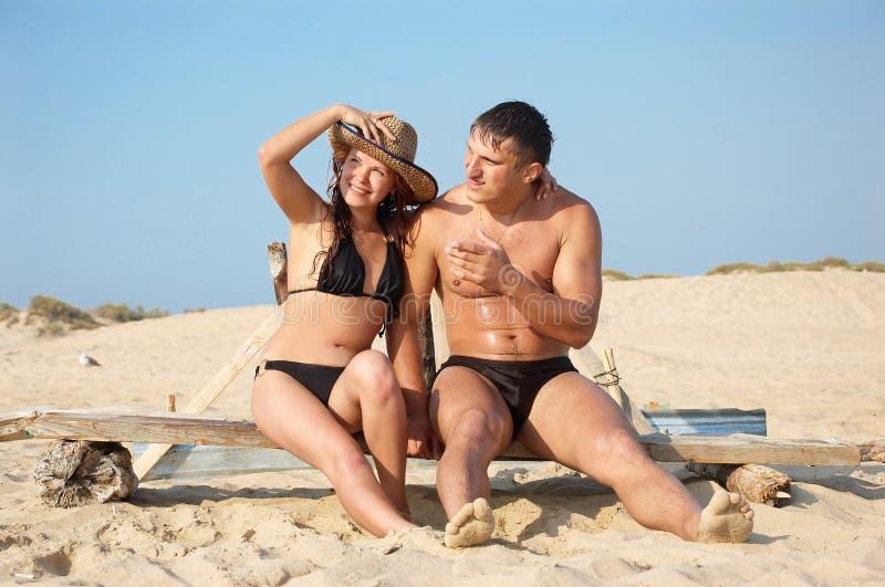 plaża nie dwa obrazy royalty free