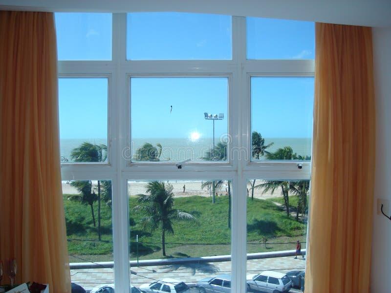 Plaża od okno zdjęcie royalty free