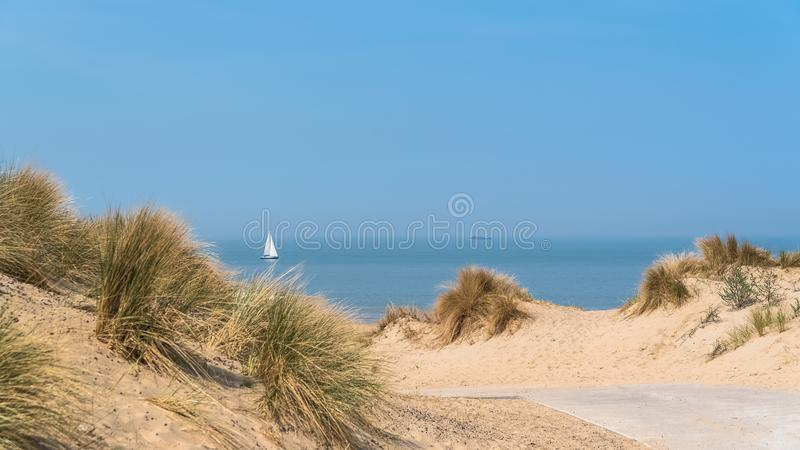 Plaża północ, Belgia obraz stock