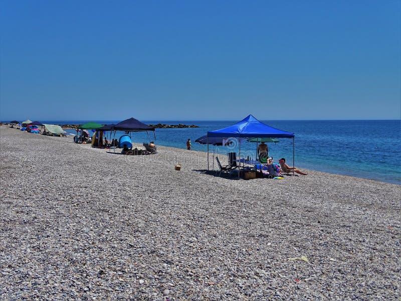Plaża Pena Del Moro od El Ejido Almeria Andalusia Hiszpania zdjęcie royalty free