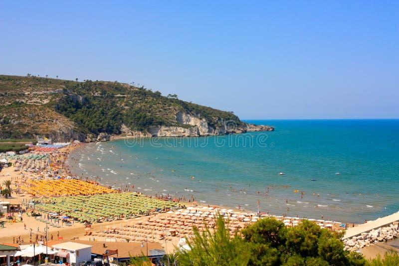 plaża peschici Włochy obraz royalty free