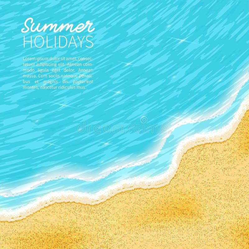Plaża, piasek, morze, royalty ilustracja