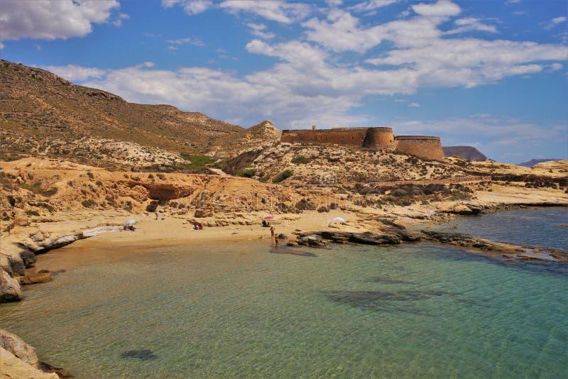 Plaża Playazo De Rodalquilar Nijar Almeria Andalusia Hiszpania zdjęcie stock