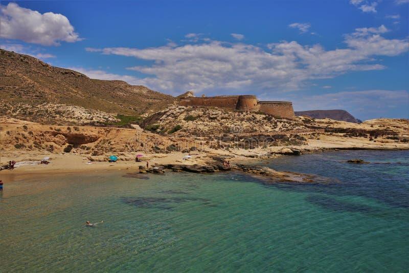 Plaża Playazo De Rodalquilar Nijar Almeria Andalusia Hiszpania zdjęcie royalty free