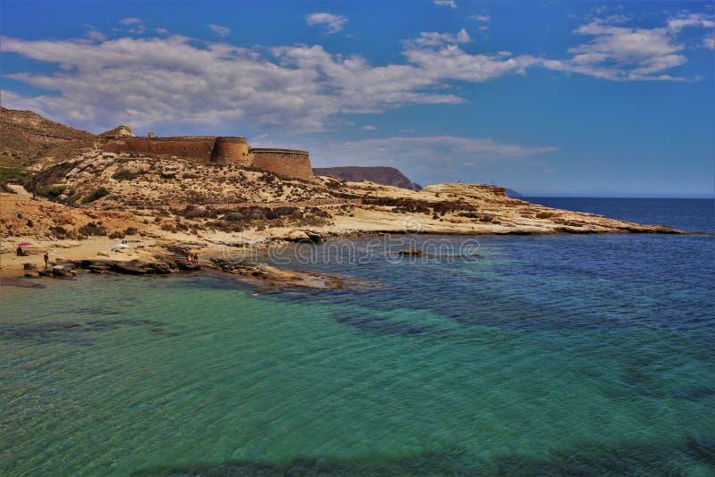 Plaża Playazo De Rodalquilar Nijar Almeria Andalusia Hiszpania obrazy royalty free