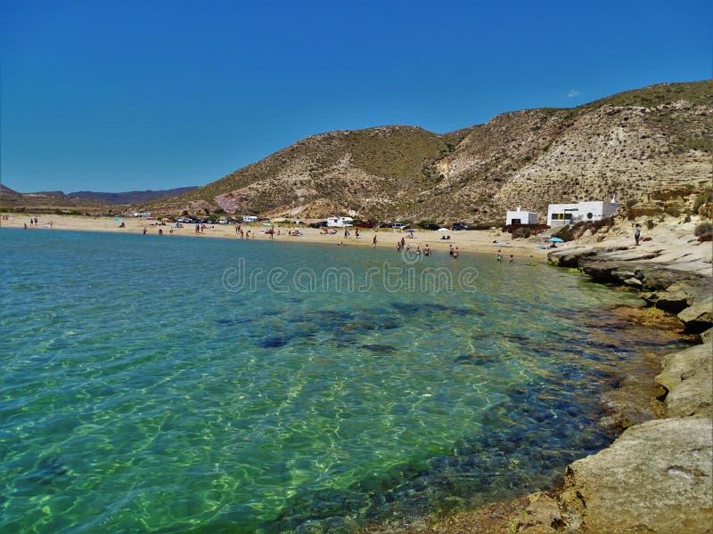 Plaża Playazo De Rodalquilar Nijar Almeria Andalusia Hiszpania obraz stock